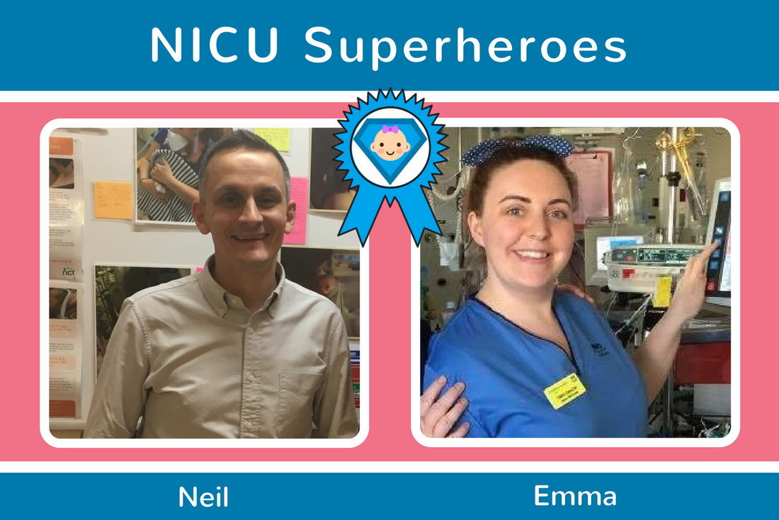 Emma and Neil from RHC NNU Receive NICU Superhero Award