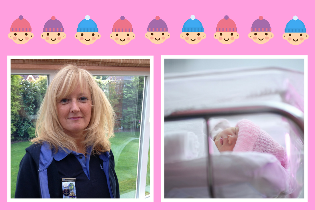 Maxine and her Rainbows Knitted Hats for Preemies, Here's Why...