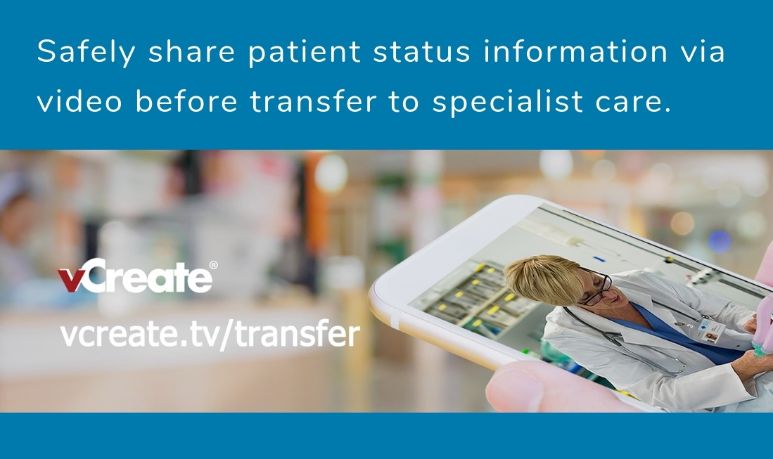 vCreate Launch Secure Video Support Service for Paediatric Transfer
