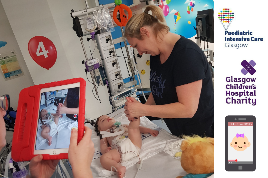 Glasgow Paediatric Intensive Care Unit are First to Introduce Secure Video Diaries for Parents
