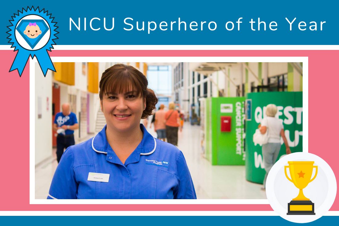 Congratulations to our NICU Superhero of the Year, Emma Cross!