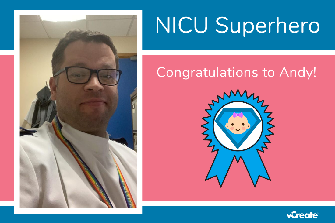 Amy has nominated Andy from RUH Bath as her NICU Superhero!