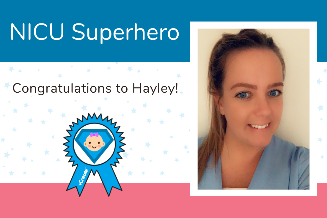Hayley from James Cook University Hospital is today's NICU Superhero