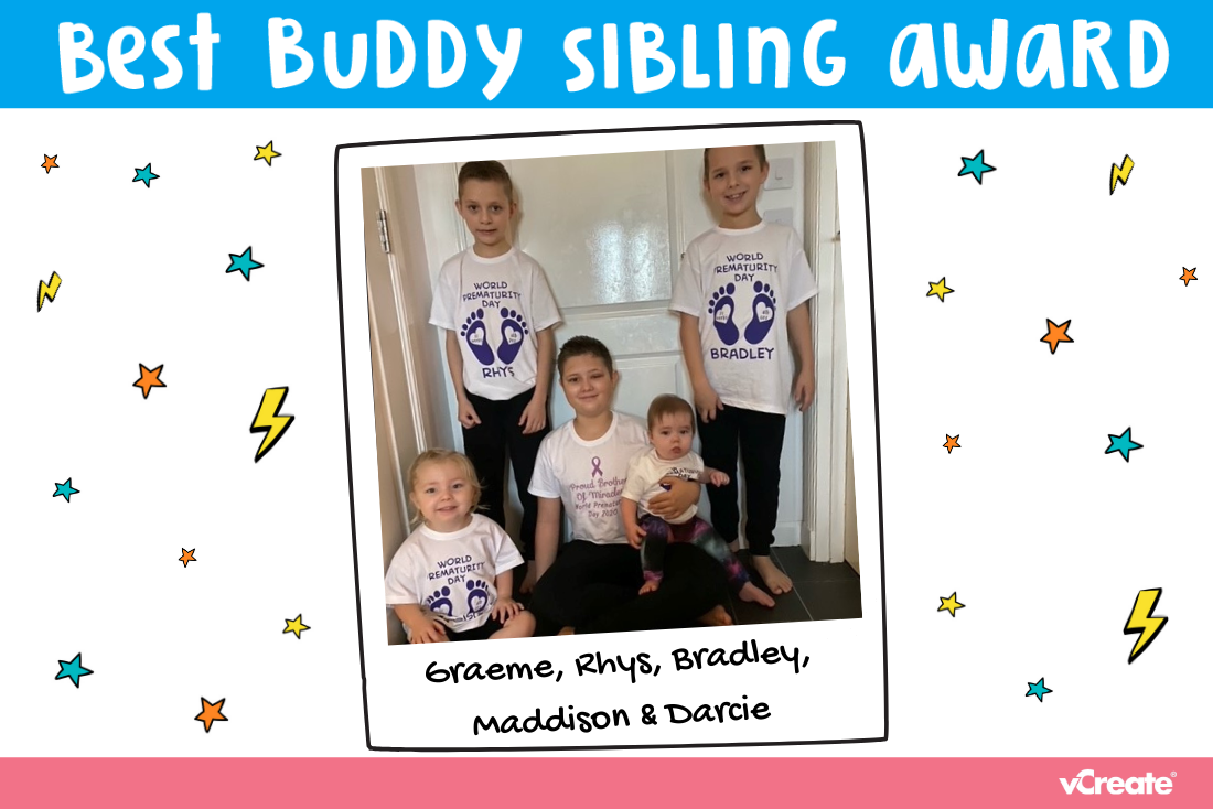 Kayleigh has nominated 5 wonderful children for our Best Buddy Sibling Award!
