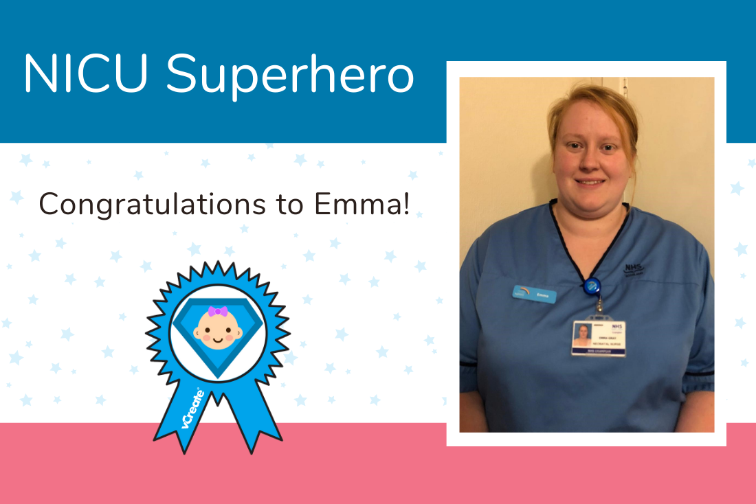Congratulations to Emma from Aberdeen Maternity Hospital! You are this week's NICU Superhero.