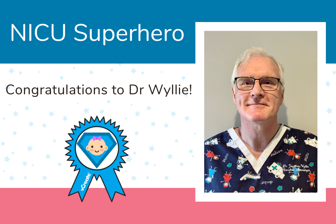 Dr. Wyllie from James Cook University Hospital is Carly's NICU Superhero!