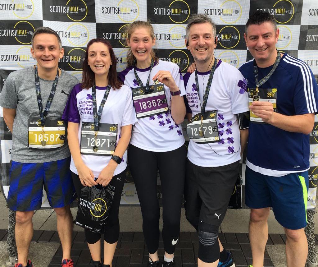 Team vCreate Celebrate Scottish 10K Success